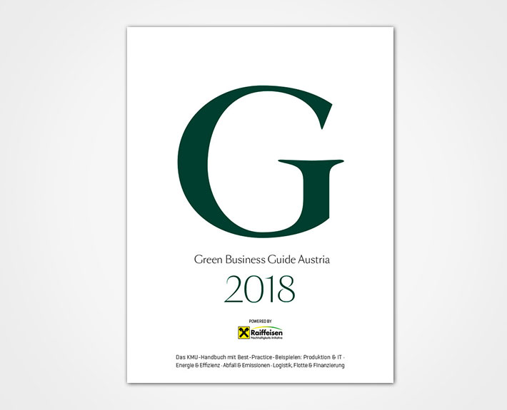 Cover des Green Business Guide Austria 2018