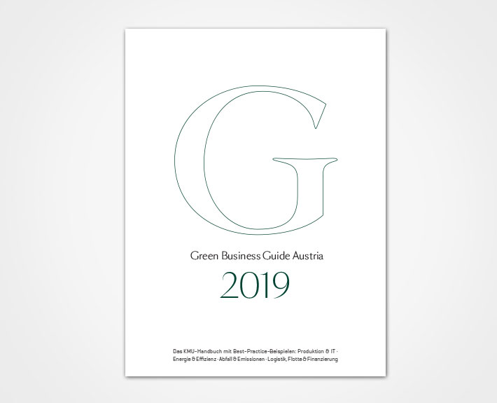 Cover des Green Business Guide Austria 2019